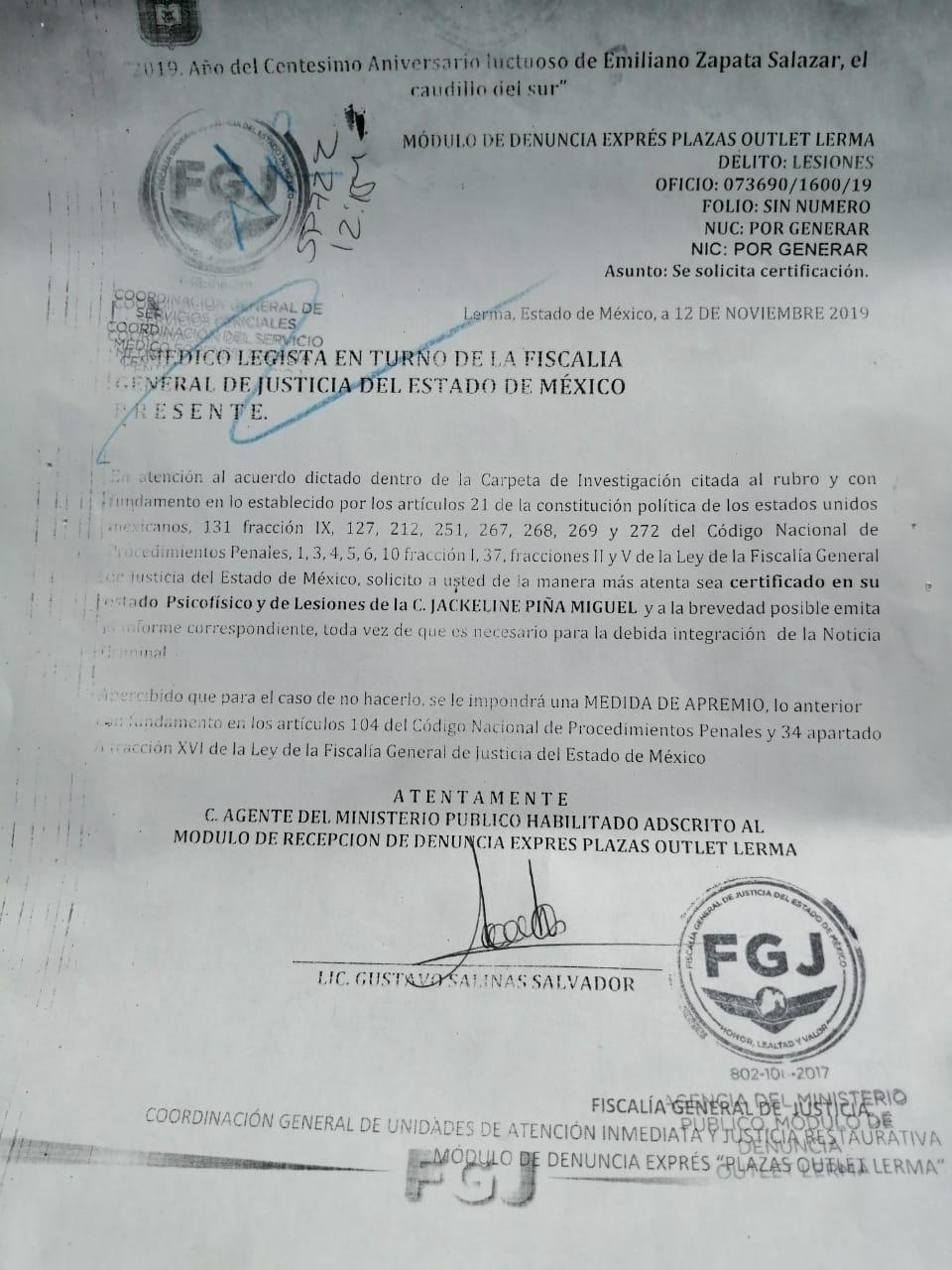 Constancia De Agresiones Fisicas Ndl Noticias